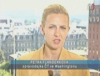 Petra Flanderková patřila včera ke kompetentnějším reportérům